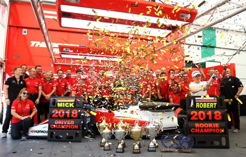 European FIA Formula 3 Team & Driver Champions with Mick Schumacher in 2018.
