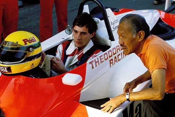 Macau Grand Prix victory with Ayrton Senna.