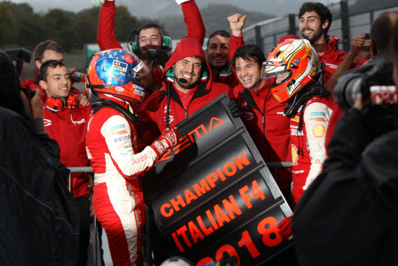 Italian Formula 4 Team & Driver Champions with Enzo Fittipaldi.
