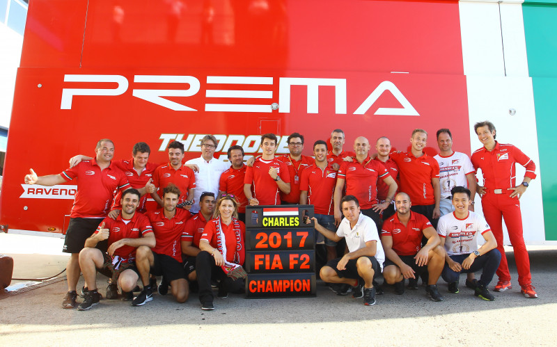 Prema Theodore Racing won the FIA Formula 2 Driver Champions with Charles Leclerc, whilst also securing the European FIA Formula 3 Team Championship.
