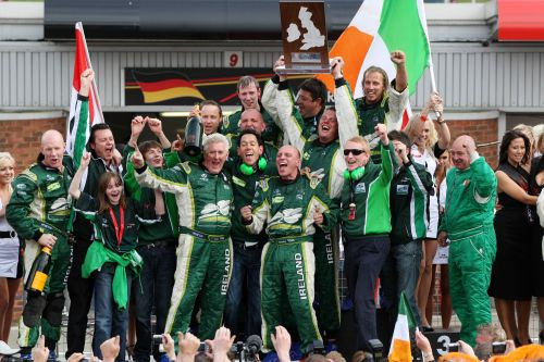 """Status Grand Prix won the A1GP World Cup of Motorsport under the name """"Team Ireland""""."""
