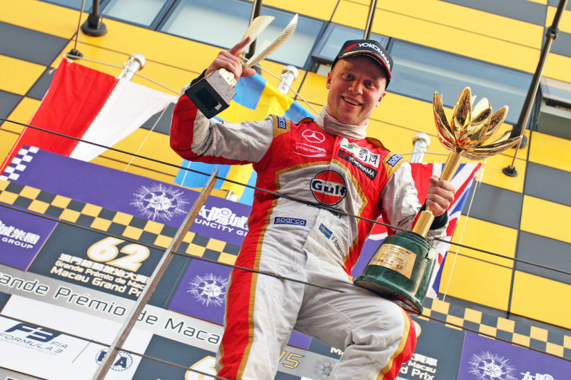 Theodore Racing achieved a record eighth victory of the Macau Grand Prix with Felix Rosenqvist.